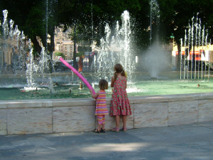 Fountains in the beautiful town of Orihuela
